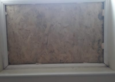 S & T Glazing board up