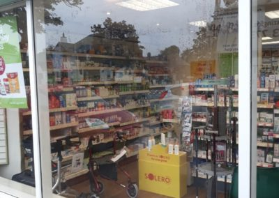 Glass shop front